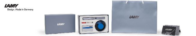 FOUNTAIN PEN BOXSET AL-STAR COSMIC & AZURE + ENGRAVING CARD